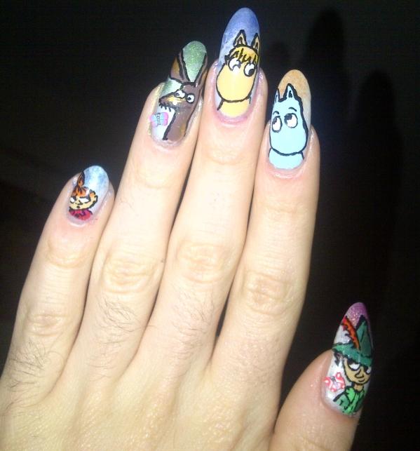 best city nails nail art moomins 2