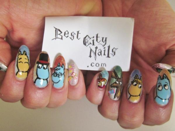 best city nails nail art moomins 3