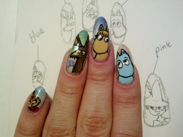best city nails nail art moomins