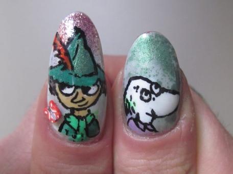 snufkin moomins nail art
